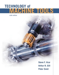 Technology of Machine Tools (6th) edition 0078307228 9780078307225