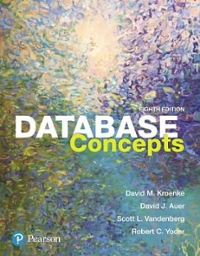 Database Concepts (8th) edition 013460153X 9780134601533