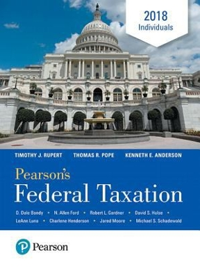 Pearsons federal taxation 2018 individuals 31st edition rent pearsons federal taxation 2018 individuals 31st edition fandeluxe Images