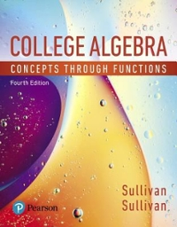 College Algebra (4th) edition 9780134686967 0134686969