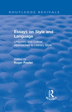 linguistics and literary history essays in stylistics Buy linguistics and literary history: essays in stylistics new impression by leo spitzer (isbn: 9780691012643) from amazon's book store everyday low prices and free delivery on eligible orders.