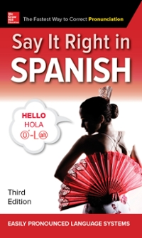 Textbook rental spanish online textbooks from chegg say it right in spanish third edition 3rd edition 9781260116311 126011631x fandeluxe Images