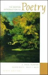 The Norton Introduction to Poetry 9th Edition 9780393928570 0393928578