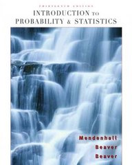 Introduction to Probability and Statistics 13th edition 9780495389538 0495389536