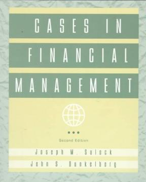 Cases in financial management 2nd edition rent 9780471110439 cases in financial management 2nd edition fandeluxe Image collections