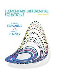 Elementary Differential Equations 6th edition 9780132397308 0132397307