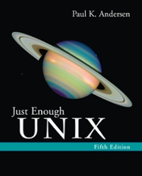 Just Enough UNIX 5th edition 9780072952971 0072952970