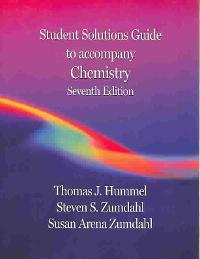 student solutions manual for zumdahl zumdahl s chemistry 7th edition rh chegg com Zumdahl Chemistry 7th Edition Notes.pdf Chemistry 7th Edition Zumdahl DeCoste